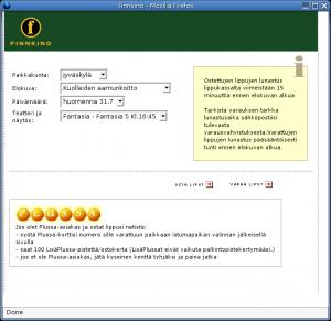 Kuolleiden aamunkoitto -varaus Finnkinon verkkosivulla Firefoxissa