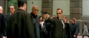 Neo, Morpheus ja agentti Smith