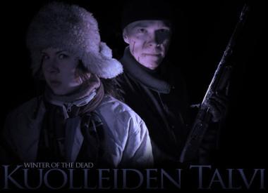 Kuolleiden talvi -elokuvan päähenkilöt: etualalla Marika, taustalla Tomi aseineen