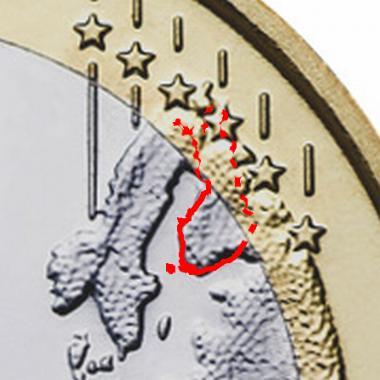 Suomi yhden euron kolikossa