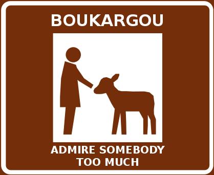 Boukargoun Admire Somebody Too Much -levyn kansi, jonka kuvituksena kotieläinpiha-liikennemerkki
