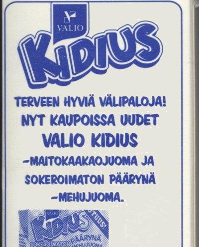 Valio Kidius. Terveen hyviä välipaloja! Nyt kaupoissa uudet Valio Kidius -maitokaakaojuoma ja sokeroimaton päärynä -mehujuoma.