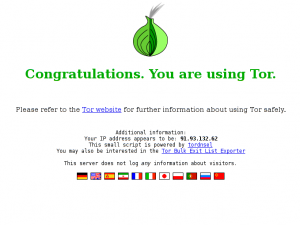 Congratulations. You are using Tor.