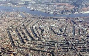 Ilmakuva Amsterdamin keskustasta