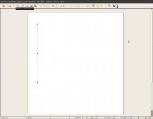 Kuvakaappaus: Samuli+Klemetti2.doc OpenOffice.orgin Writerissa. Yksi pystyviiva muutoin tyhjällä arkilla.