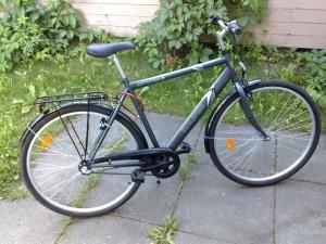 Tummanharmaa Solifer Citynex3 -polkupyörä