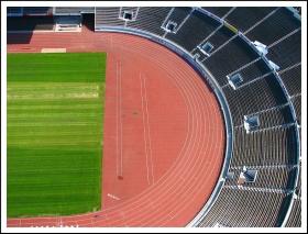 Yleisurheilukentän pääty (ilmakuva)
