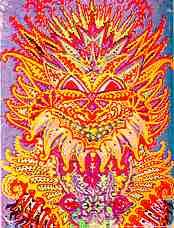 Louis Wainin mielikuvituksellisen värinen kissa