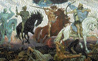 Ilmestyskirjan neljä ratsastajaa (Commodore 64 -grafiikka)