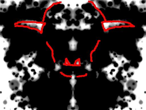 Saatana-tulkinta musteläiskästä