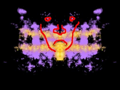 Apeat kasvot -tulkinta musteläiskästä