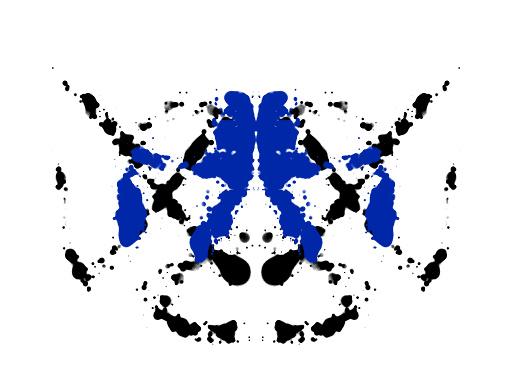 Symmetrinen sinimusta musteläiskä