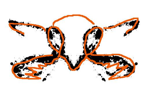 Sotilasmuurahaisen pää -tulkinta musteläiskästä