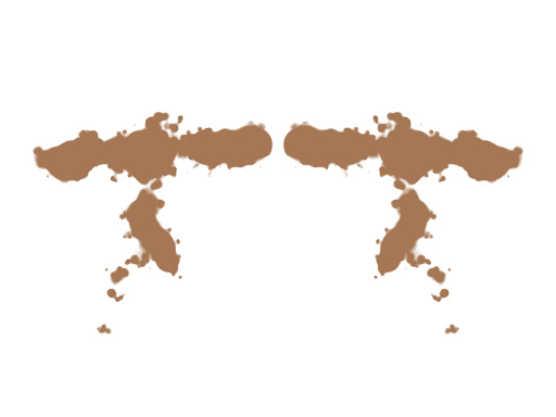 Symmetrinen ruskea musteläiskä