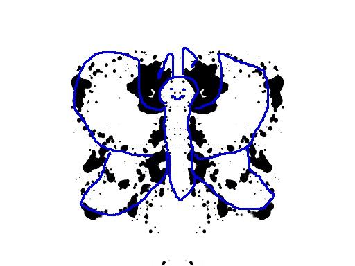 Iloinen perhonen -tulkinta musteläiskästä